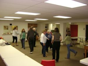 """We even learned a little """"folk dancing"""" from Michelle Zebell-Jankowski"""