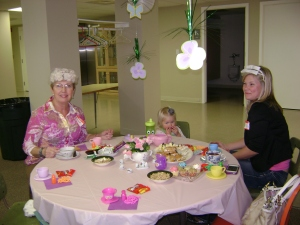 "The ladies had a great time at the ""Mad Hatter's Tea"" on April 27, 2013 - even those at the ""kids"" table!"